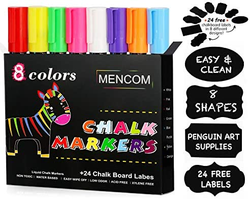 Mencom Markers Colored Whiteboard Blackboard product image
