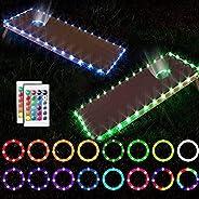 LED Cornhole Lights,RGB 16 Multicolors Change by Yourself Remote Control Cornhole Board Edge LED Lights, Great