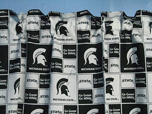 (Handmade 100% Go Green Go White Michigan State University Logo Window Valance)