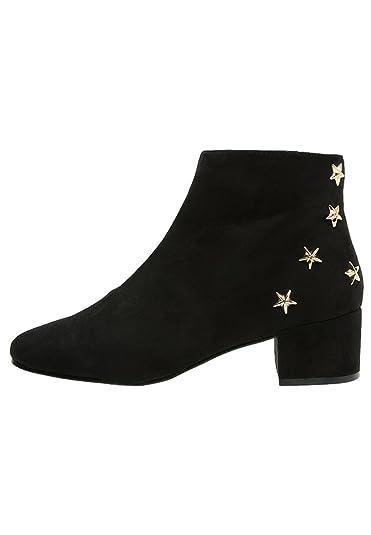 c57faf484b0bdc BETTY Ankle Boot black Topshop Dame Stiefeletten mit Sternen-Nieten schwarz  Gr. 39