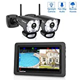 Cheap CasaCam VS1002 Wireless Security Camera System with HD Spotlight Cameras and 7″ Touchscreen Monitor (2-cam kit)