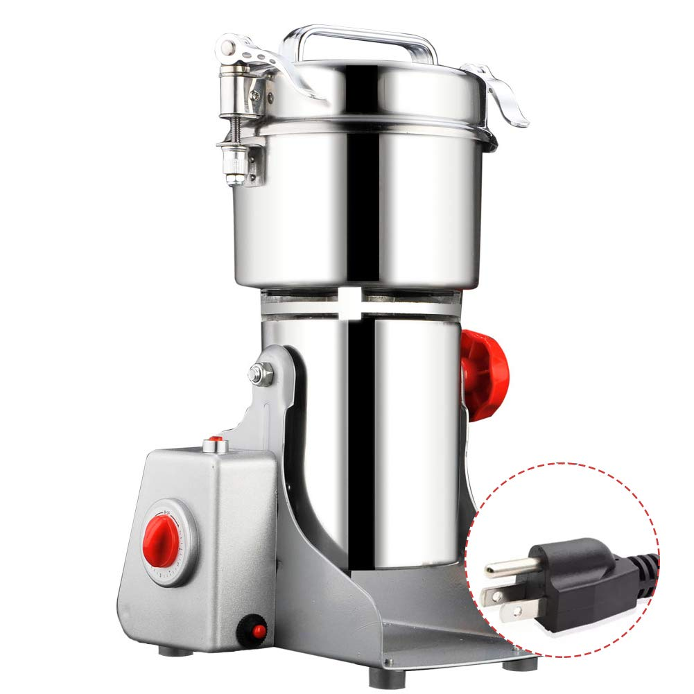 700g Electric Grain Grinder, Commercial Mill Herb Powder Machine Swing Type Dry Cereals Grain Mixer Mill for Herb Grinding kitchenaid Grain Pulverizer 1500W