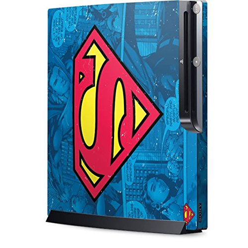 DC Comics Superman Playstation 3 & PS3 Slim Skin - Superman Logo Vinyl Decal Skin For Your Playstation 3 & PS3 Slim
