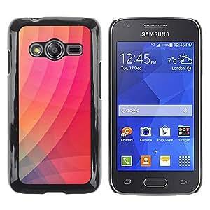 Be Good Phone Accessory // Dura Cáscara cubierta Protectora Caso Carcasa Funda de Protección para Samsung Galaxy Ace 4 G313 SM-G313F // Gradient Color Pink Stripes Art Modern