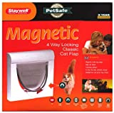 Staywell Magnetically Operated Cat Flap with Tunnel White 932EFS