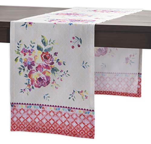 Maison d' Hermine Rose Garden 100% Cotton Table Runner - Single Layer 14.5 Inch by 108 Inch