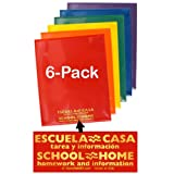 StoreSMART - Plastic School/Home 2-Pocket Folders - Spanish/English - Primary Colors 48-Pack - 8 each of 6 bright colors (SH900PCP48SPAN)