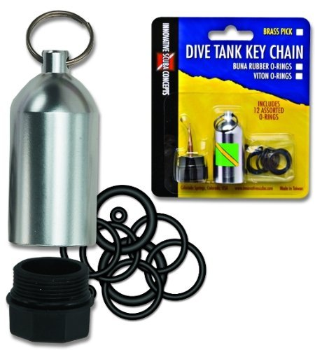 Innovative Scuba Concepts Scuba Diving Tank O-Ring Dive Kit Keychain with Pick - ()