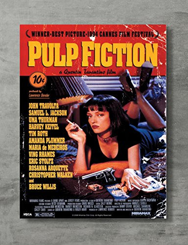 APPLEpie Pulp Fiction Uma Movie Poster High Definition Posters Standard Size 24 x 18 inch