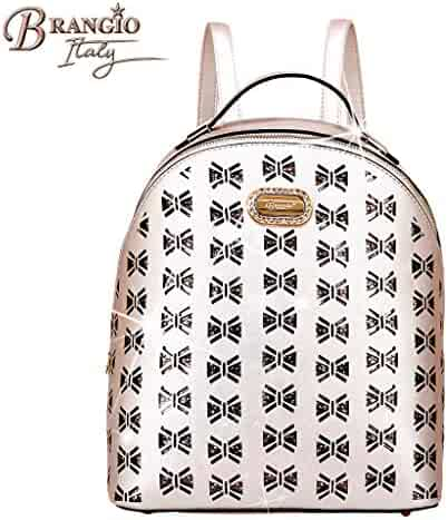 Brangio Italy Travel backpack Butterfly Celestial Star 3D Floral Cut  Crystal pebbled leather Travel backpack JAB8769 2da5c3602a427