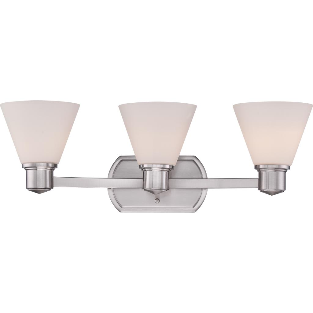 Quoizel ayr8603bn ayers with brushed nickel finish bath for Bathroom fixtures brushed nickel finish