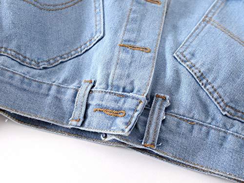 L Maniche Giacca Plus Corto S Light Denim Cardigan Rlwqlfs Primavera Cappotto A Jeans Blue Donna Di Vintage Lunghe Coat Size deep BwdpqH1dx