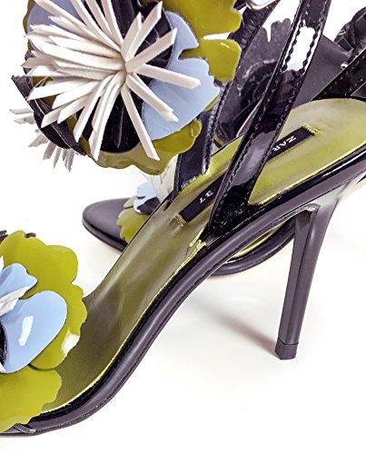 Zara Femme Sandales à talons et fleurs 6562/201 (40 EU | 9 US | 7 UK)