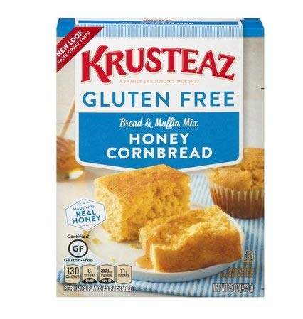 PACK OF 10 - Krusteaz Gluten Free Honey Cornbread and Muffin Mix, 15.0 OZ