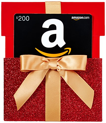 Amazon.com $200 Gift Card in a Gift Box Reveal (Classic Black Card Design) ()