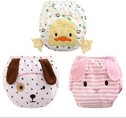 Big Elephant Unisex-Baby Toddler 3 Pack Cute Training Pants Underwear Assortment B93