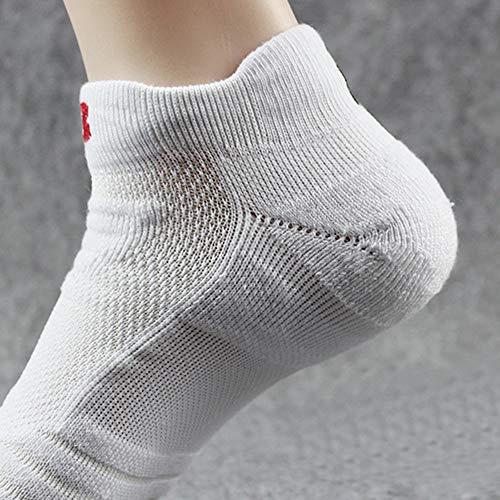 Respirantes Blanc Chaussettes Paires Comfortables 1 Sport Coton Homme Socquettes 3 Lot De Élasthanne 6 FFxfrvq