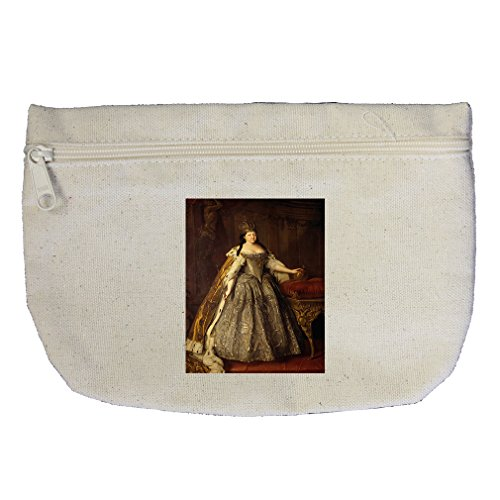Empress Anna Ioannovna (Louis Caravaque) Canvas Makeup Bag Zippered (Empress Design Print)