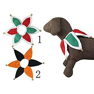 Costume Jester Pet Collar with Bells Set of 2 (L)