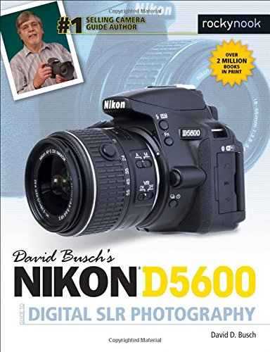David Busch's Nikon D5600 Guide to Digital Photography is your all-in-one comprehensive resource and reference for the Nikon D5600 camera. This ultracompact and light weight Nikon digital SLR has new SnapBridge wireless Bluetooth communication so you...