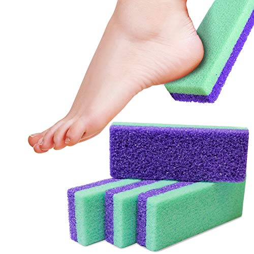 Maccibelle Salon Foot Pumice and Scrubber for Feet and Heels Callus and Dead Skins, Safely and Easily eliminate Callus and Rough Heels (Pack of 4)