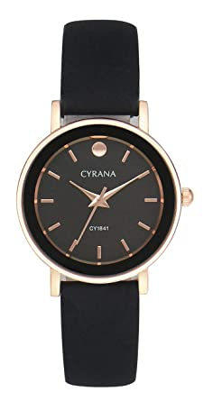 94ba33896853 CYRANA Women Fashion Simple Round Inner dial Ladies Quartz Wristwatch - Rose -Gold Tone (