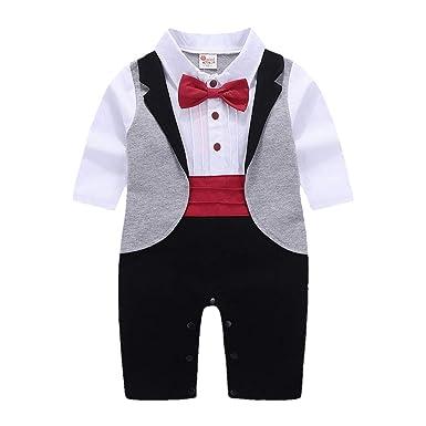 Subfamily Conjuntos Bebé Niño Ropa de bebé otoño Esmoquin Ropa de Caballero Pantalones Babero + Tops: Amazon.es: Ropa y accesorios