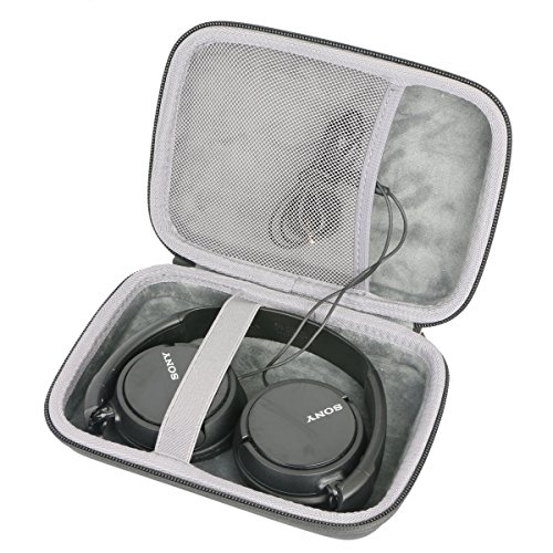 Hard Travel Case for Sony ZX Series MDR-ZX310AP Headband Stereo Headset by co2CREA (Black)