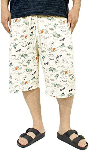 VOLKSWAGEN(フォルクスワーゲン) ショートパンツ メンズ 大きいサイズ 総柄 サーフ プリント スウェット ハーフパンツ 【M~5Lサイズ】