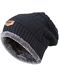 Winter Beanie Scarf for Boys Girls (5-14 Years) Hats Circle Scarf Kids Slouchy Skull Cap