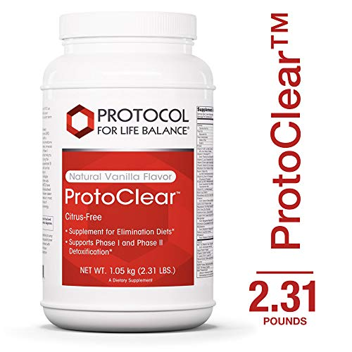 Protocol For Life Balance – ProtoClear – Vegetarian Pea Protein – Support for Detoxification and Elimination Diets in BioAvailable Formula- Natural Vanilla Flavor 1.05 kg 2.31 lbs