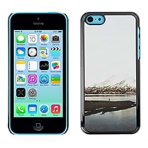 Caucho caso de Shell duro de la cubierta de accesorios de protección BY RAYDREAMMM - Apple iPhone 5C - Mountain Snow Lake View