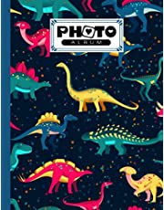 """Photo Album: Dinosaurs Set Album, Large Photo Albums with Writing Space Memo, Extra Large Capacity Picture Album, Family, Baby, Wedding, Travel Photo Book, 120 Pages, Size 8.5"""" x 11"""" by Gilbert Seiler"""