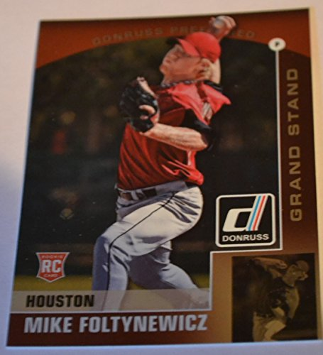 2015 Donruss Preferred Mike Foltynewicz Rookie Grand Stand Baseball Card #17