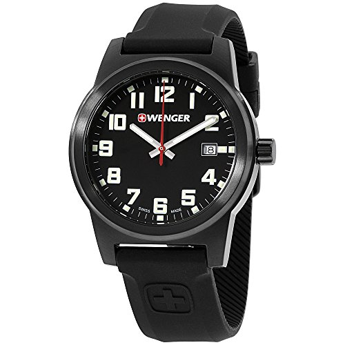 Wenger-Black-Dial-Silicone-Strap-Mens-Watch-010441155