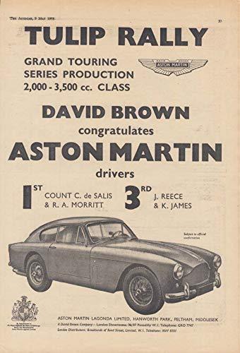 Tulip Rally Grand Touring 1st Place - Aston Martin DB4 ad 1958