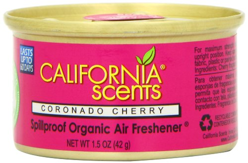 California Scents Spillproof Organic Air Freshener Twin-pack, Coronado Cherry, 1.5 Ounce Canister (Pack of 4) by California Scents (Image #1)