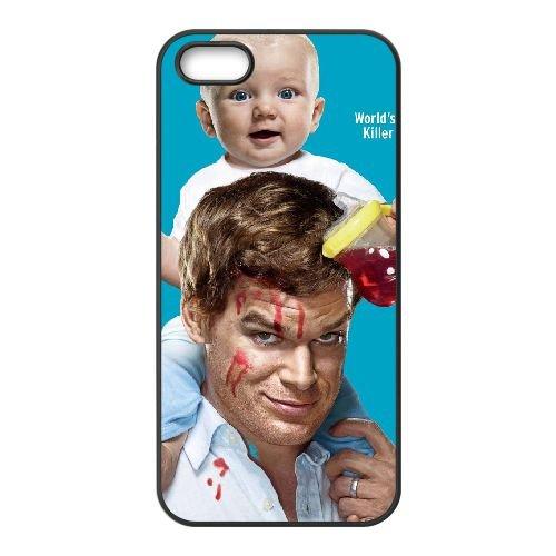 Dexter 1 coque iPhone 4 4S cellulaire cas coque de téléphone cas téléphone cellulaire noir couvercle EEEXLKNBC24555
