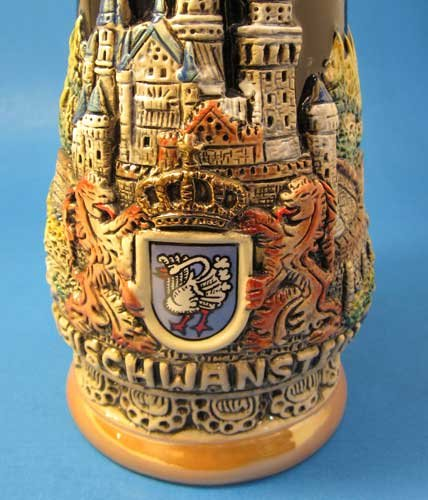 Neuschwanstein Castle German Beer Stein by KING