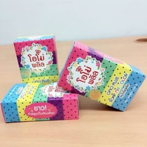 3x Hot!! Omo Plus Soap Mix Color Whitening Face & Body Soap 100g.