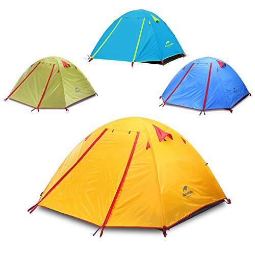 Topnaca  PersonSeasonBackpackingTent,WaterproofWindproofDoubleLayerDoubleDoorsDoubleSkylightAluminumRod,forCampingHikingTravel