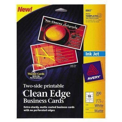 Amazon avery 8865 clean edge business cards office products avery 8865 clean edge business cards colourmoves