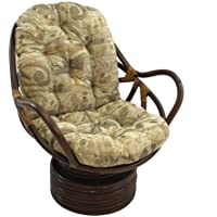International Caravan 3310-JCH-4-IC Furniture Piece Rattan Swivel Rocker with Cushion