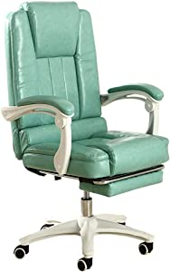 QNN Desk Chair,Computer Chair Office Chair Flexible Swivel Task Chair with Adjustable Height and Pedal for Home Office Conference Room,Green