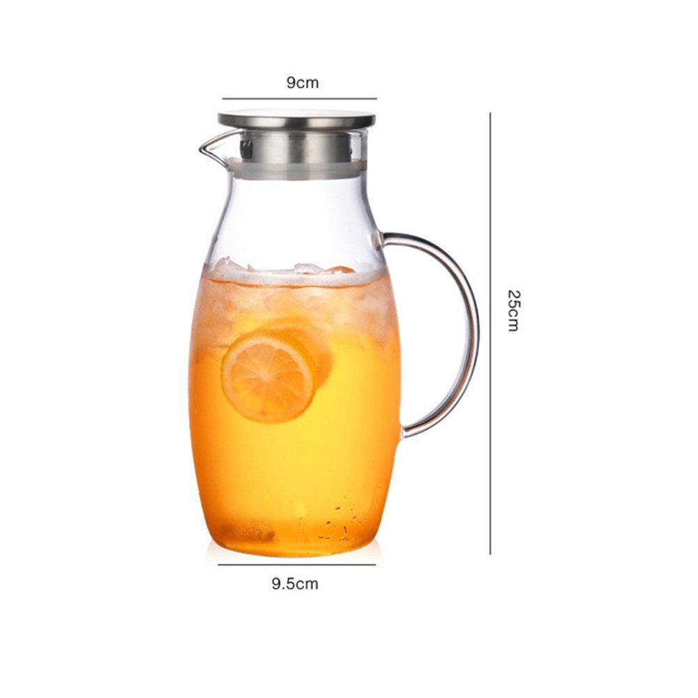 1.8l bottiglia di vetro Antideflagrante vetro resistente al calore brocca hotel ristorante colazione Juice fragile prodotto