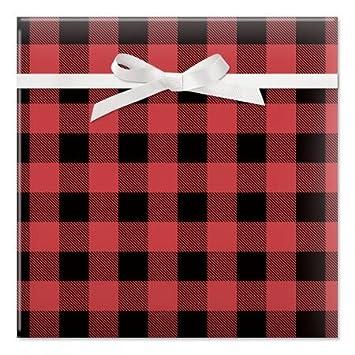 amazon com buffalo plaid christmas rolled gift wrap 67 sq ftbuffalo plaid christmas rolled gift wrap 67 sq ft