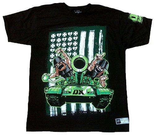 f563e67ea WWE WORLD Empire ENTERTAINMENT para hombre T-Shirt negro DX ARMY  D-generación One