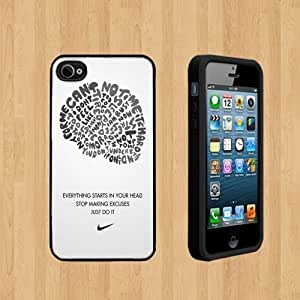 Nike just do it copy Custom Case/For Iphone 6Plus 5.5Inch Case Cover BLACK pc Case ( Ship From CA )