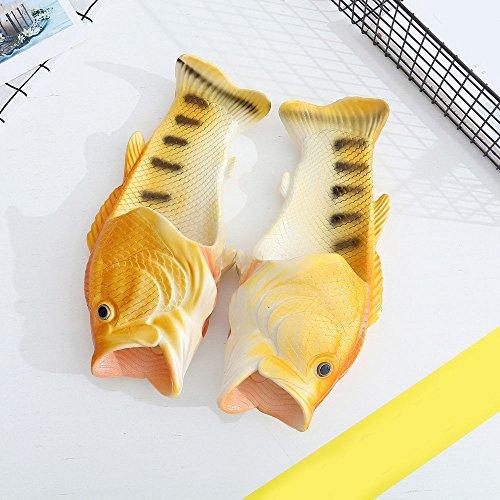 Sandalen Kreative Schuhe Lustige Gelb Hausschuhe QinMM Dusche Fisch Strand Unisex Bqwnd8xa