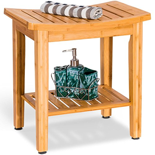"""Lpha' 18"""" Bamboo Chair Shower Seat Bench Bathroom Spa Bath Toilet for"""